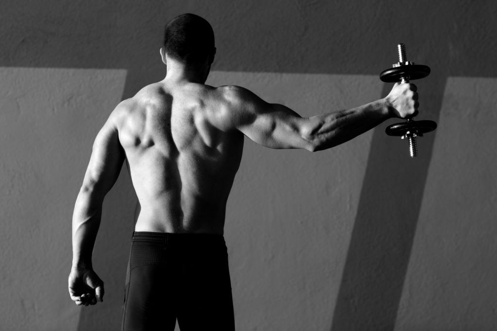 muscular man from behind